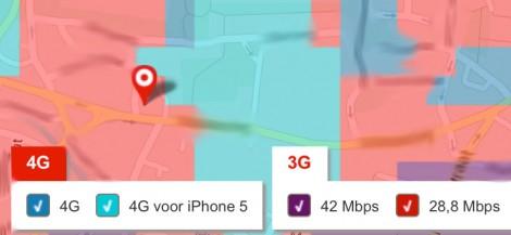 4G dekking Vodafone Hilversum