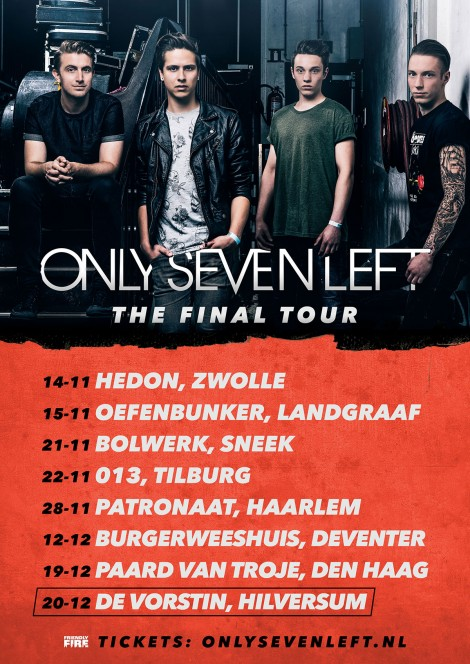 Only Seven Left - The Final Tour-Flyer